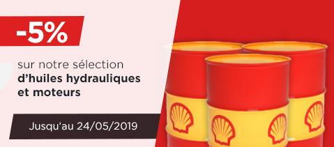 -£5% sur notre sélection d huiles hydrauliques et moteurs