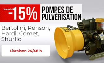 Jusqu'à -15% sur les pompes de pulvé !
