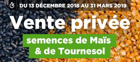 Vente privée semences de maïs et tournesol