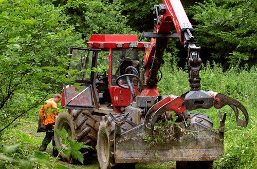 Tracteur forestier